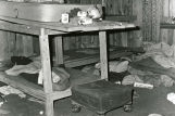 Vandalized interior of Gildersleeve home, 1973