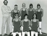 Wrestling team and coach, n.d.