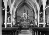 Altars, pillars, and pews in Holy Rosary Church, 1 of 3, n.d.