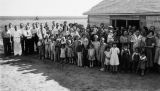 Parishioners at church hall, n.d.