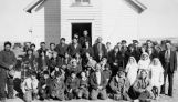 Congregation on first communion Sunday, 1938