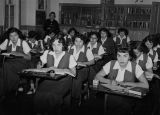 High school girls in classroom, 1952