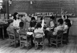Primary-level class with lay teacher, 1964