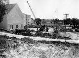 Construction of High school building, 1977