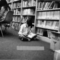 Students in library, 1979
