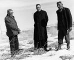 Elders at massacre site with Fr. Edwards, S.J., 3 of 3, n.d.