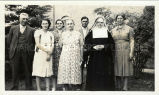Franciscan sister and her family, n.d.