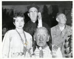 Father Lawrence Edwards, S.J., Chief James Red Cloud, and Joanne Gildersleeve, n.d.