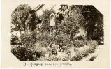 Brother Gras, S.J., and his garden, n.d.