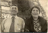 Mr. and Mrs. Dan and Julia Hollow Horn Bear in formal American dress, n.d.