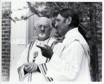 Father Kolvenbach, S.J., and Deacon Victor Bull Bear, 1993