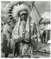 Chief Charles Red Cloud at prayer walk dedication, 3 of 3, 1971