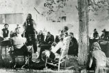 Chiefs in council with American Horse speaking, 1903
