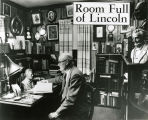 "Lester W. Olson in his ""Lincoln Room,"" 1956"