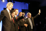 John Kerry, Dennis Kucinich, John Edwards, Al Sharpton and Howard Dean after the Democratic...