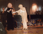 Hildegarde and Alice Faye on stage at Carnegie Hall, 1986