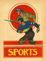 Color plate depicting football player as soldier, 1919