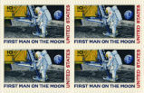 """First Man on the Moon"" postage stamps, 1969"