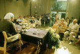 Mother Teresa press conference, view from the stage, 1981