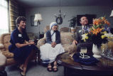 Mother Teresa meets privately with a couple in Milwaukee, 1981