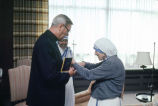 Rev. Robert Gassert, S.J. meets with Mother Teresa, 1981