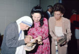 Mother Teresa signs her autograph for Lillian Rojtman Berkman, 1981