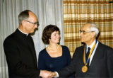 John P. Raynor, S.J.; Joanne Pier; and Karl Rahner, S.J.; at the Pere Marquette Discovery Award...