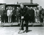 Walter Schroeder Hall groundbreaking ceremony, 1956