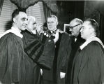 The Chain of Office is presented to Edward J. O'Donnell, S.J., 1953