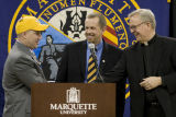 "Marquette introduces Brent ""Buzz"" Williams as head basketball coach, 2008"