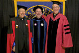 Marquette University presidents Albert J. Diulio, S.J., Scott R. Pilarz, S.J., and Robert A. Wild,...