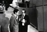 Al McGuire is interviewed before NCAA Mideast Regional game, 1969