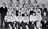 Wrestling team group photograph with Phil Buerk, 1967