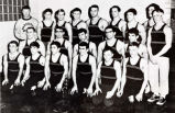 Team captain Phil Buerk in wrestling team group photograph, 1968