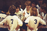 "Catherine ""Tat"" Shiely with members of the volleyball team, 1980? - 1989?"