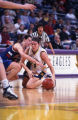 Abbie Willenborg fights for possession of the basketball, 1996? - 2000?