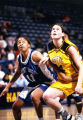 Abbie Willenborg prepares for a rebound, 1996? - 2000?