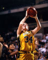 Abbie Willenborg makes a jump shot, 1996? - 2000?