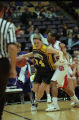 Abbie Willenborg playing basketball at the NCAA tournament, 1997