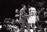 "Glenn ""Doc"" Rivers and coach Hank Raymonds, 1983"