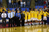 2002-2003 men's basketball team at the first round of the NCAA tournament, 2003