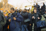 2002-2003 men's basketball team at their final four pep rally sendoff, 2003