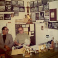 Coach Shimek at work in his office, 1972