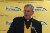 Robert A. Wild, S.J., speaking at Final Four pre-game event, 1 of 2,  2003