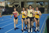Brianna Dahm runs the inside lane at Valley Fields, 2 of 2, 2002