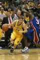 Travis Diener drives past an opponent, 2005
