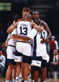 Tony Miller in a team huddle, 1993-1994