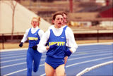 Amy Erickson leads Marquette runners in outdoor race, 1996