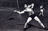 Ward Cuff throws the javelin, 1934-1935
