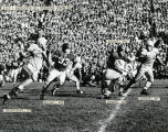 Running back Ron Drzewiecki gains yardage for Marquette, 1953